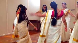 Video Big Boss Thiruvathira Kali Pearly Maaney Hot Saree