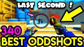 500 IQ LAST SECOND PLAY! - CS:GO BEST ODDSHOTS #340