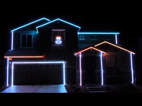 Miami Dolphins Fight Song - Christmas Lights Show