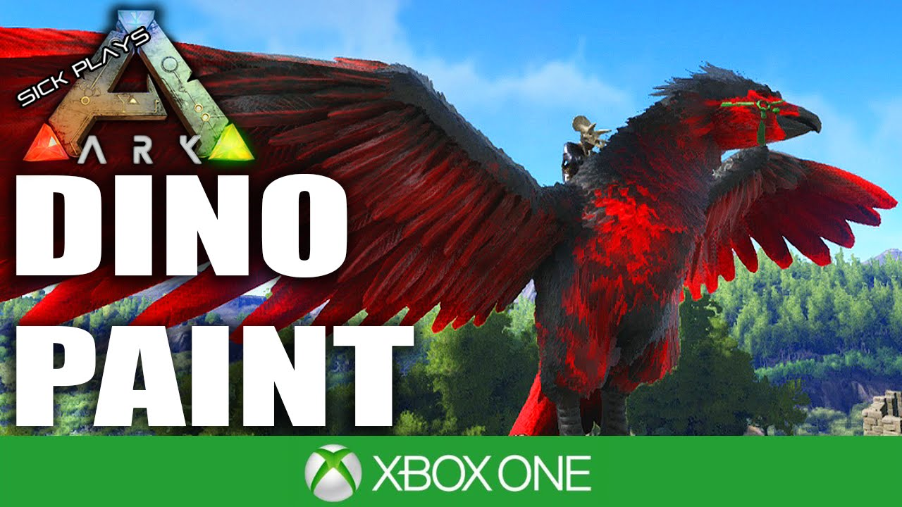 Dino Paint Ark Survival Evolved Xbox One Youtube