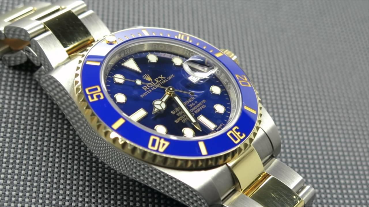 Rolex Ceramic Submariner Date 116613LB Two-Tone | DavidSW