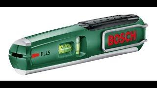 Unpacking / unboxing Laser Spirit Level Bosch PLL 5 0603015020