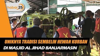 Uniknya Tradisi Sembelih Hewan Kurban Di Masjid Al Jihad Banjarmasin