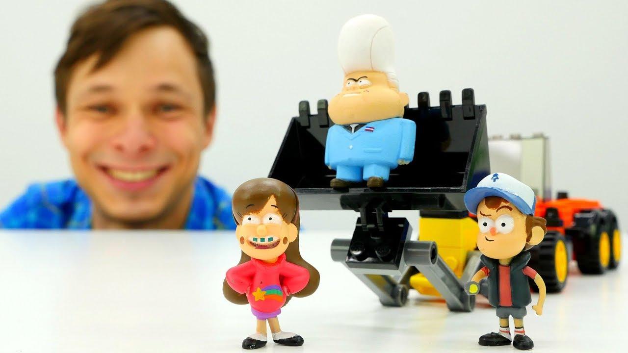 Фёдор прокачивает машинку для Мэйбл и Диппера из Гравити Фолз.
