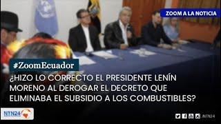 ¿Hizo lo correcto el Presidente de Ecuador al derogar el Decreto 883?