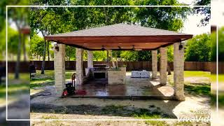 Custom Pavilion with Outdoor Kitchens - Freedom Outdoor Living, San Antonio Texas