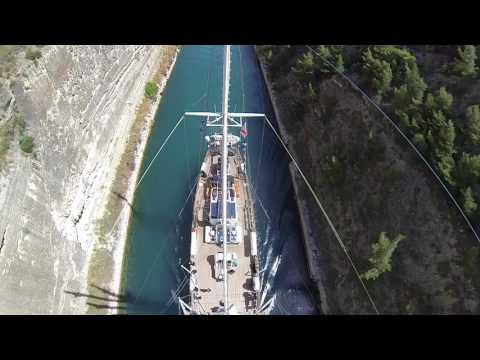Young Endeavour transits the Corinth Canal, Greece
