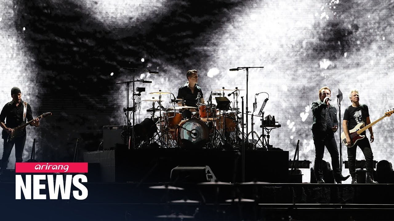Download Irish rock band U2 performs first concert in S. Korea in their 43-year career