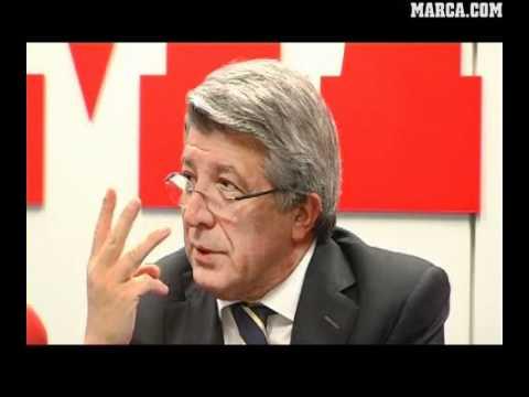 Entrevista a Enrique Cerezo - presidente del Atlético de Madrid.flv
