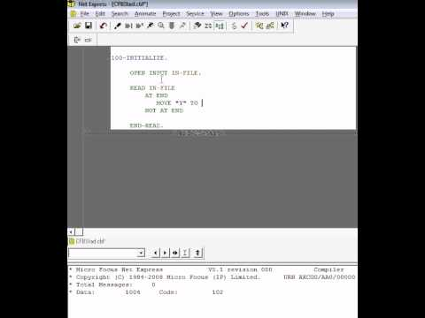 Sequential File Read in COBOL