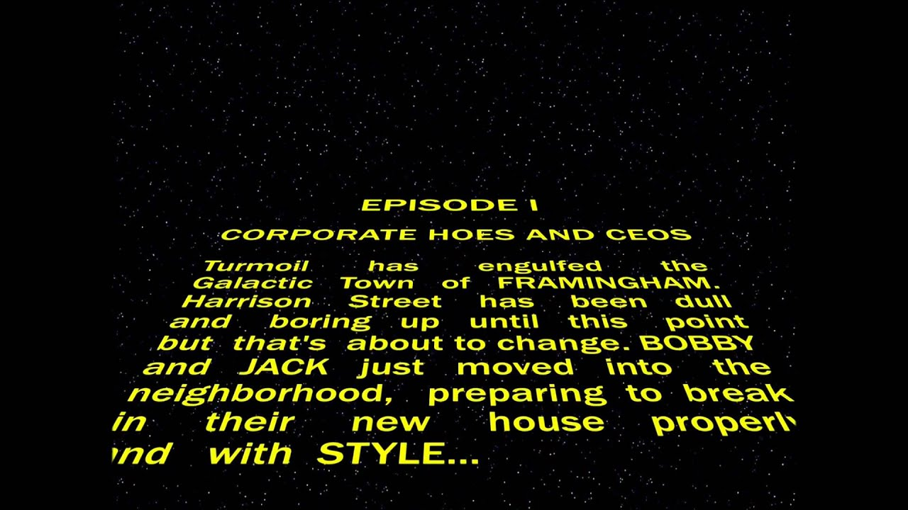 star wars opening crawl parody for a house party called corporate, Powerpoint templates