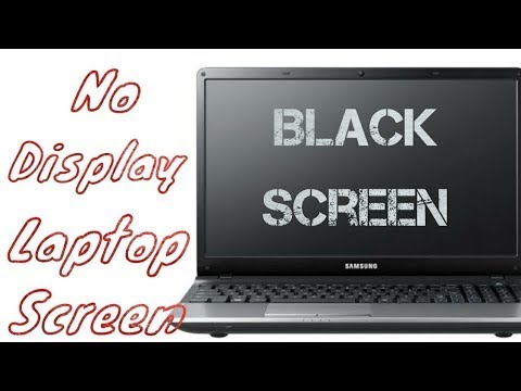 Laptop Power On But No Display Problem,Only Show Black Screen 100% Solved