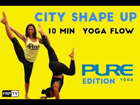 10 Minute Yoga Flow and Fit News Interview at Pure Yoga NYC | CITY SHAPE UP SUMMER SERIES