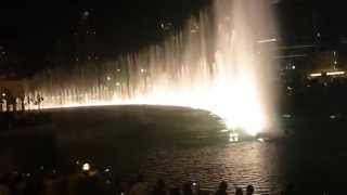 Dubai Fountain near burj Khalifa Andrea Bocelli Sarah Brightman con te partirò time to say goodbay