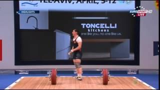 ЧЕ 2014 по Тяжелой Атлетике Тель-Авив женщины до 75кг