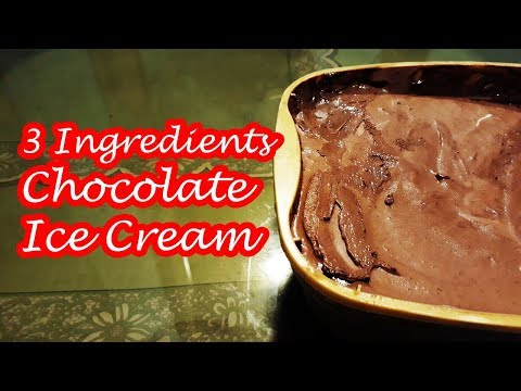 3 INGREDIENTS CHOCOLATE ICE CREAM!!!