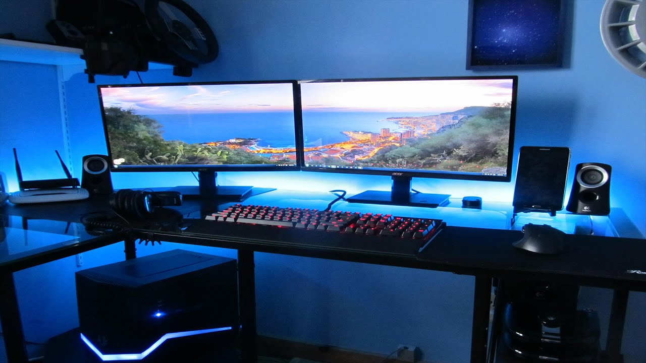 3 Monitor Chair Best 600 Gaming Setup Build Youtube
