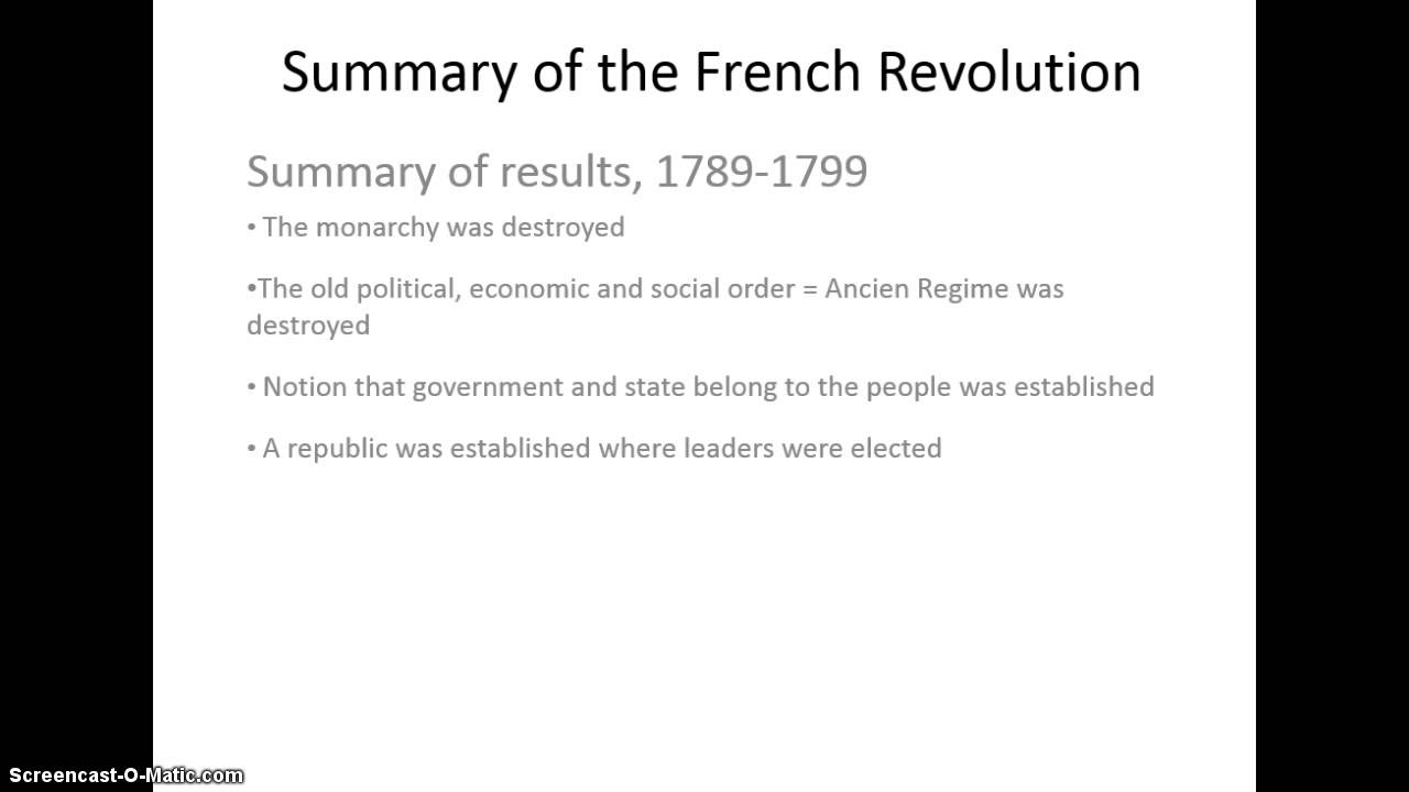 An analysis of the opinions on the french revolution