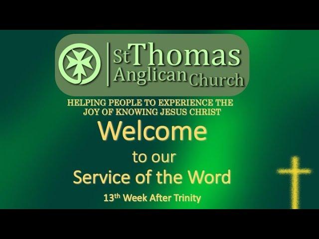Trinity 13 Zoom Service