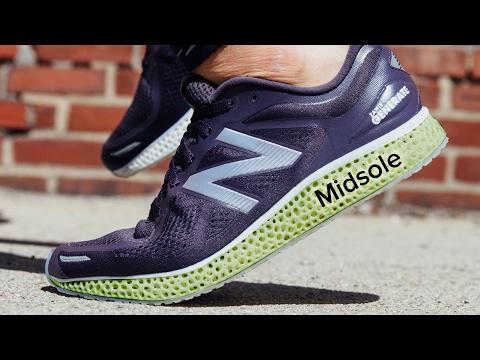 Data-driven, 3D printed running shoe midsoles