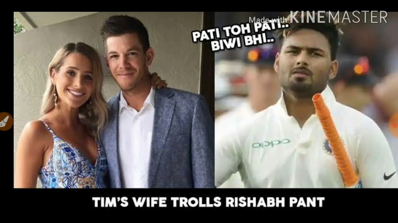 Rishabh Pant Do Babysitting For Tim Paine S Kids Tim Paine Wife Tweet The Picture Youtube