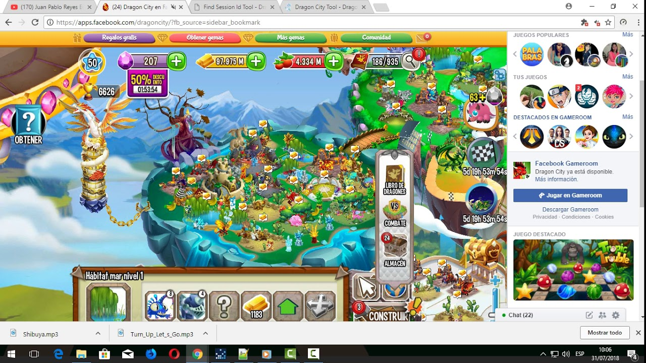 Hack De 100 Gemas Y 200 Orbes De Dragon City Youtube