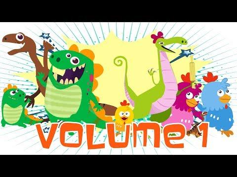 Ucz się kształtów - Dino i Dina budują Bałwana! 👶 Bajki Edukacyjne dla Dzieci