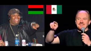 Blacks vs Mexicans: Louis CK & Patrice O'Neal compilation