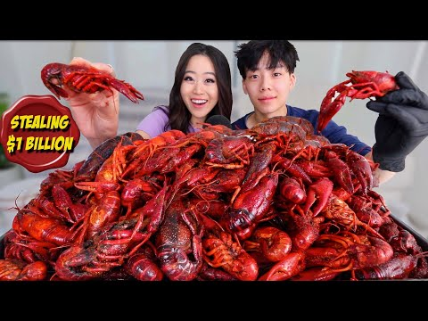 10 POUNDS OF CRAWFISH CHALLENGE SEAFOOD BOIL MUKBANG 먹방 | Eating Show