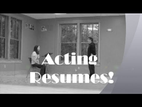 How to Write An Acting Resume- Theatre Geek