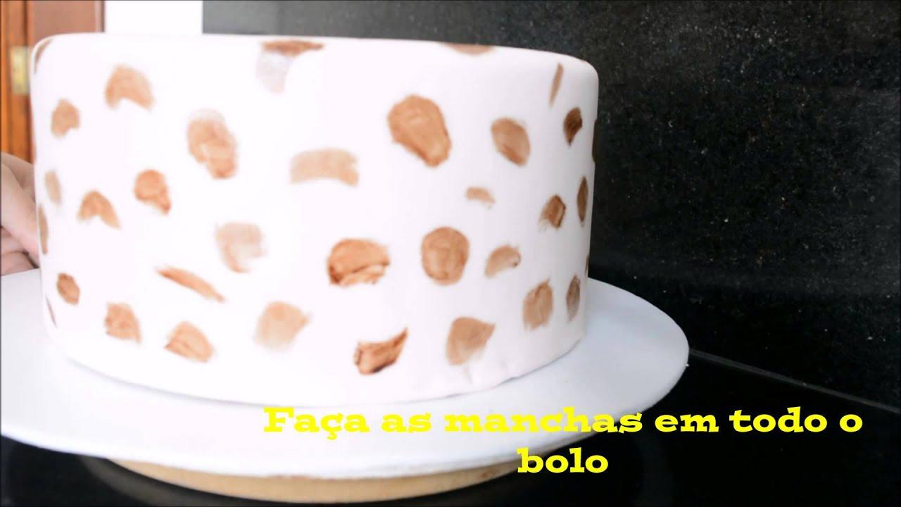 BOLO ONÇA ! ( COMO FAZER EFEITO DE ONÇA NO BOLO) by Atelier Marcela Nunes