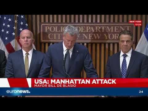 New York mayor  Bill de Blasio on terror attack