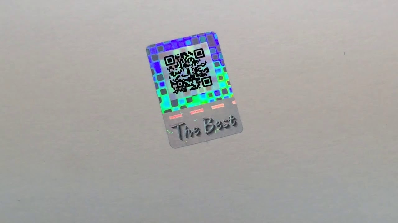 custom qr code hologram sticker for authenticity check youtube