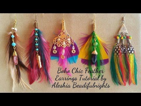 Boho Chic Feather Earrings Tutorial