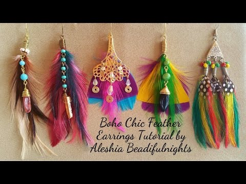 Boho Chic Feather Earrings Tutorial