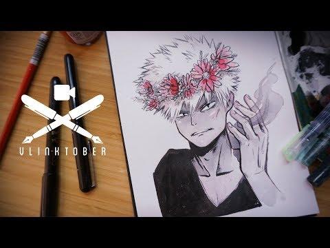 Drawing Bakugo from MHA   Vlinktober 02