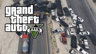 CAR CRASH TURNED INTO A CRAZY HIGHWAY PILEUP/EXPLOSION GTA 5