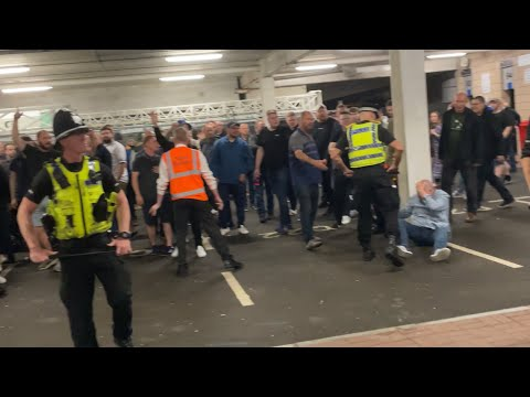 NEWCASTLE AND LEEDS FANS RIOT AFTER FULL TIME (17/09/2021)!!!!!!
