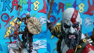 god of war 4 kratos & atreus action figure handmade