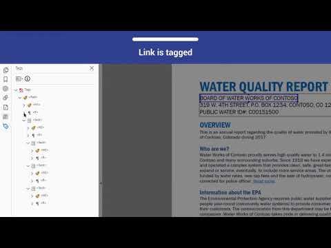 PDF Accessibility: Navigation Links