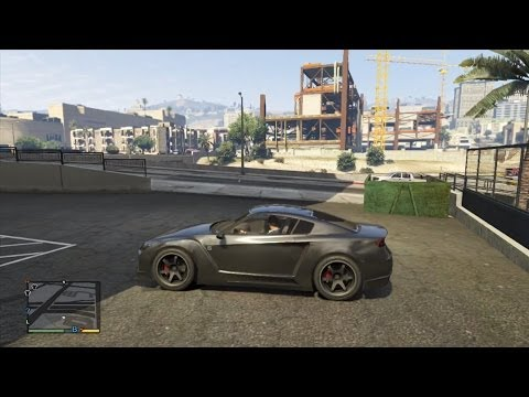 GTA 5 V XBOX 360 Nissan GTR CRASH TESTING GAMEPLAY