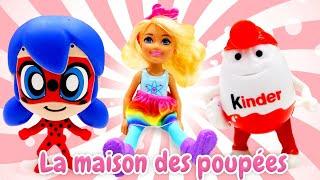 Vidéo en français pour enfants. Marinette LadyBug et Adrien Chat Noir. Sauvetage d'une fille