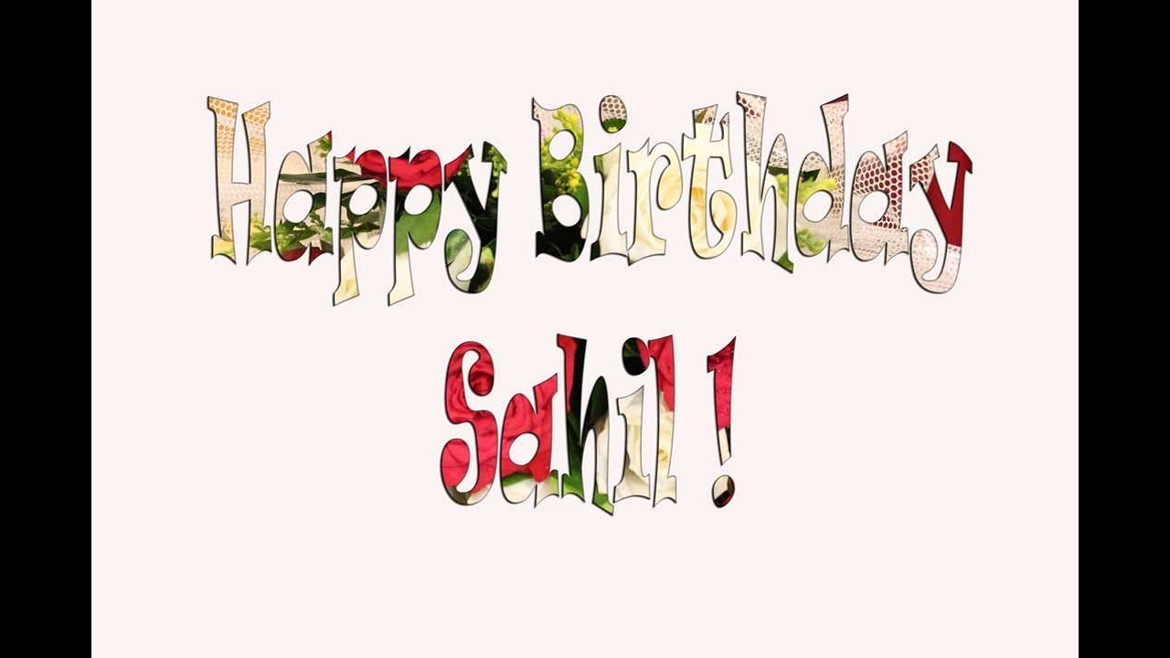 Happy Birthday Sahil in Hindi