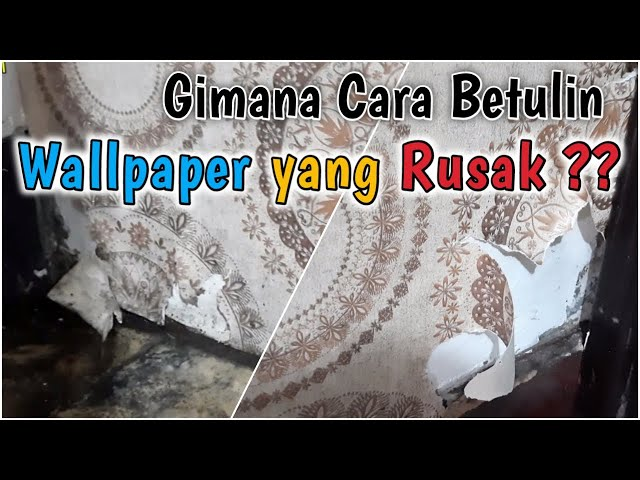 TUTORIAL CARA MEMPERBAIKI WALLPAPER YANG RUSAK/ROBEK | PesanGorden.id