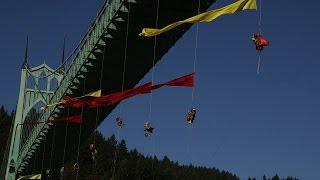"""Shell No"" Protest in Portland, Oregon--The Fennica Turns Back"