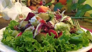 Mixed Salad With Dill Cucumber Dressing ~ Live Entrée