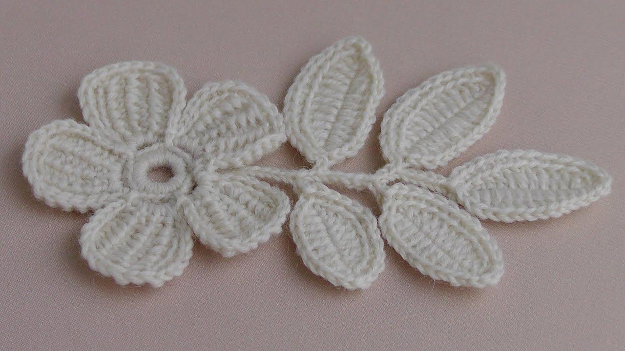 Вязание крючком плоских цветов