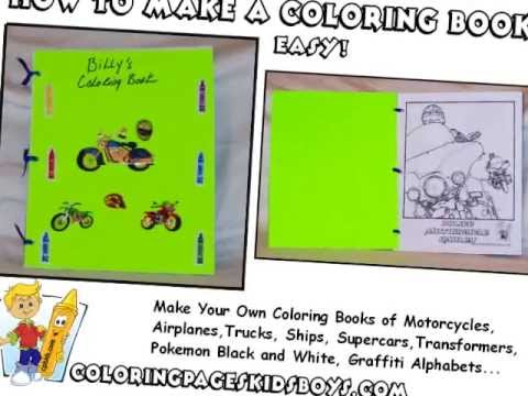 ColoringBuddyMike: How To Make A Coloring Book Tutorial - YouTube