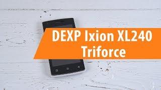 Распаковка DEXP Ixion XL240 Triforce / Unboxing DEXP Ixion XL240 Triforce