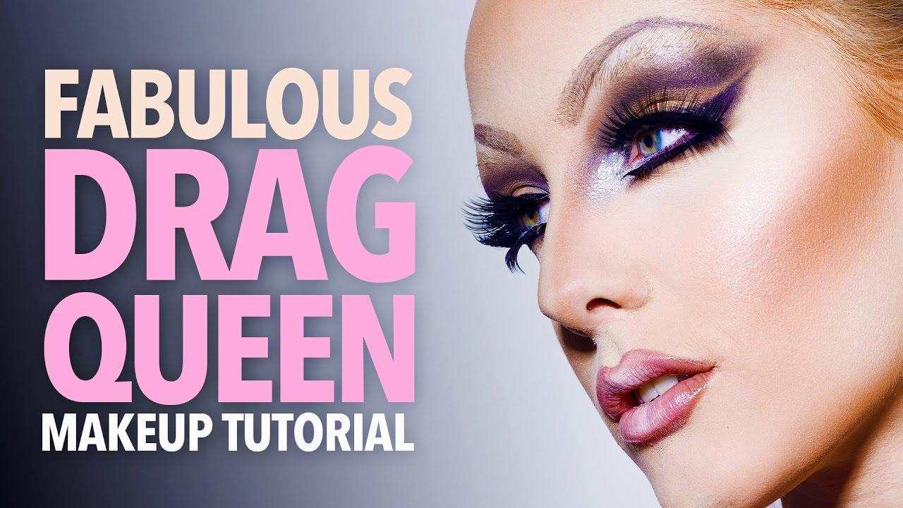 Fabulous drag queen makeup tutorial youtube fabulous drag queen makeup tutorial baditri Images